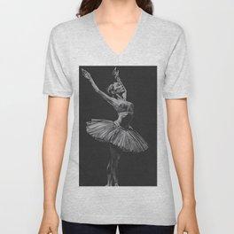 Ballet dancer Unisex V-Neck