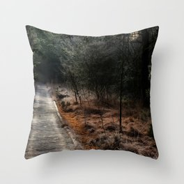 Way into the moor Throw Pillow