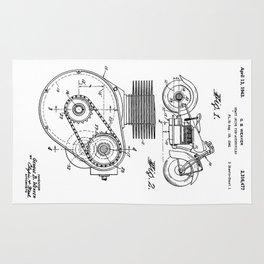 Motorcycle Patent Art Rug