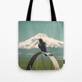 Mt. Jefferson Raven Tote Bag