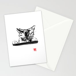 smelling cat Stationery Cards