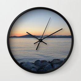 on a western shore Wall Clock