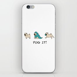 PUG, PUGS (great on teeshirts)! iPhone Skin
