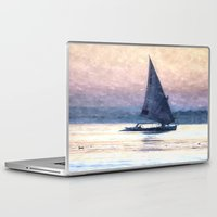 water colour Laptop & iPad Skins featuring Felucca Water Colour by Brian Raggatt