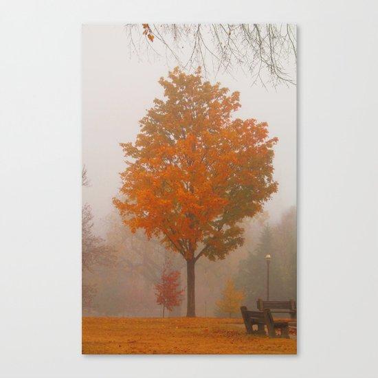October Fog Canvas Print