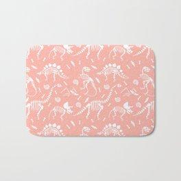 Dinosaur Fossils in Pink Bath Mat