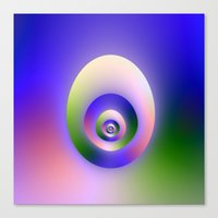 egg Canvas Prints featuring Egg by Objowl