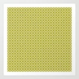 Quatrefoil Lime Art Print