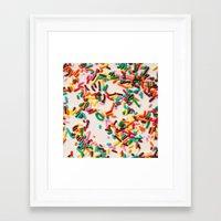 sprinkles Framed Art Prints featuring Sprinkles  by Laura Ruth