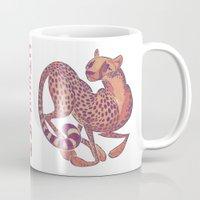 cheetah Mugs featuring Cheetah by Anya McNaughton