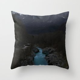 The Soca River Izonso Throw Pillow