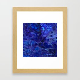 Blue Abyss Abtract Framed Art Print