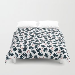 Christmas holly and berries Duvet Cover