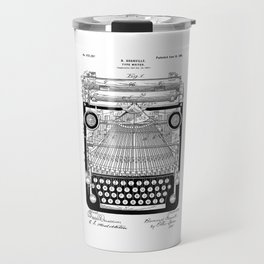 patent art Granville Type Writer 1900 Travel Mug