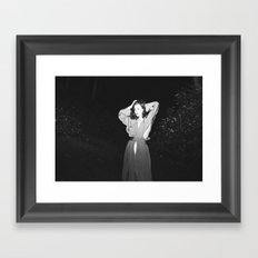 Searching for a Rabbit Hole Framed Art Print
