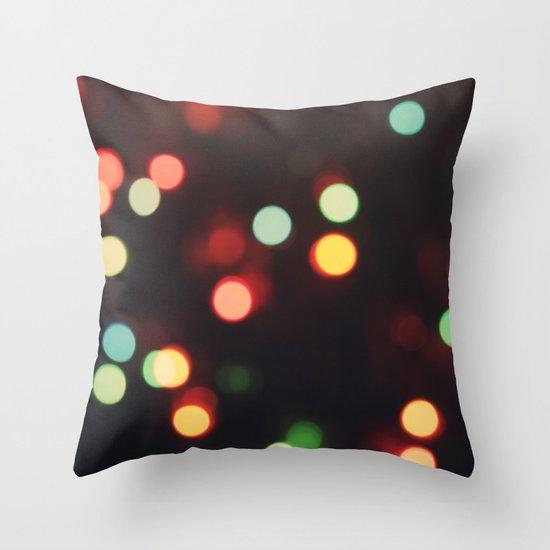 Christmas Lights Throw Pillow