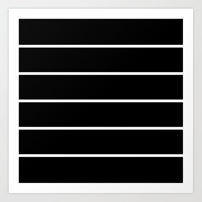 273cfe78 Black White Pinstripes Minimalist Art Print by beautifulhomes | Society6