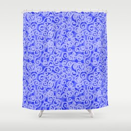 Blue Swirls Shower Curtain