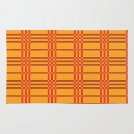 Orange Plaid Rug