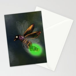 Dragonfly light bulb Stationery Cards
