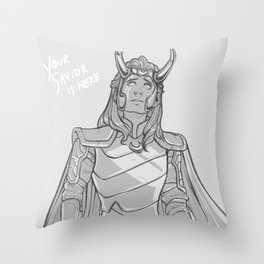Your savior is here Throw Pillow