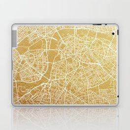 Gold London map Laptop & iPad Skin