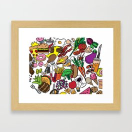 Foodie Framed Art Print