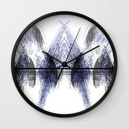 Symmetrical Hatching Wall Clock