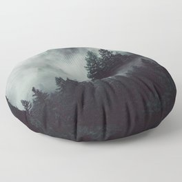 Rain in the forest Floor Pillow