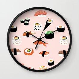 Sushi Noms Print Wall Clock