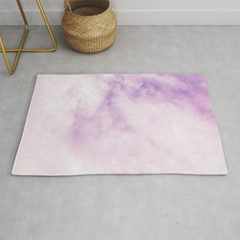 Fuchsia Cloud // Colorful Sunset Pink and Purple Fluffy Ocean Sky Photography Beach Vibes Rug