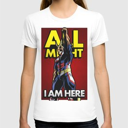 All Might Here Red T-shirt
