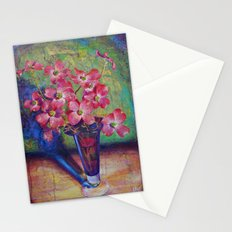 Dogwood flowers in a vase Stationery Cards