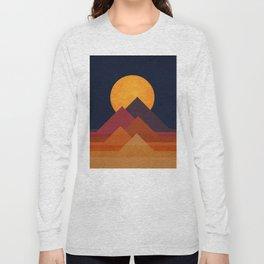 Full moon and pyramid Long Sleeve T-shirt