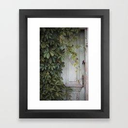 Old wooden door Framed Art Print