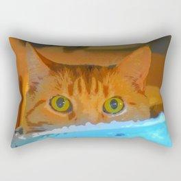 Sir Watson Tabby Digital Cat Rectangular Pillow
