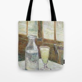 Café table with absinth Tote Bag