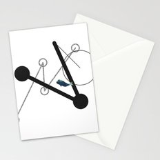undulate geometric with whale Stationery Cards