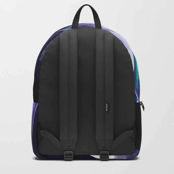 Birds of Paradise Temple of Flora Blue Mint Backpack