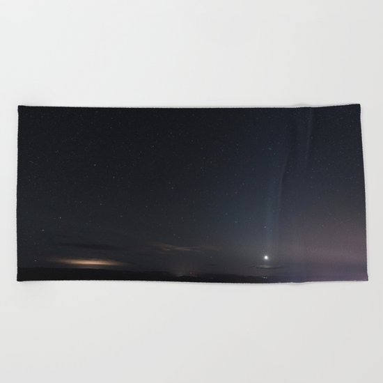 Arizona Desert Night Sky Stars Beach Towel