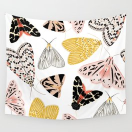 Moth's Diverse Beauty Pattern Wall Tapestry