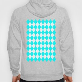 Diamonds (Aqua Cyan/White) Hoody