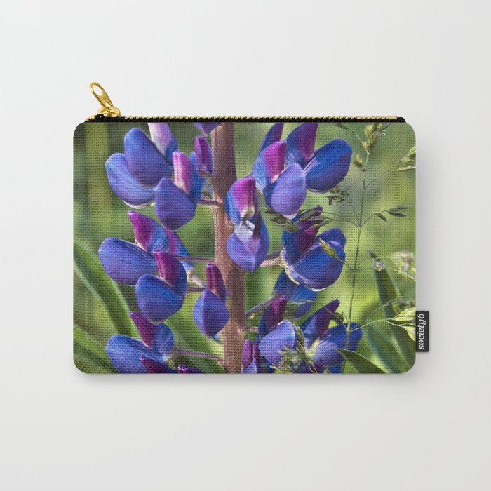 Summer Meadow with Blue Lupine Carry-All Pouch