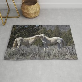 Wild Horses with Playful Spirits No 2 Rug