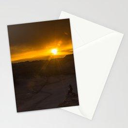 Romantic Sunset at Atacama Desert Stationery Cards