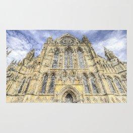 York Minster Cathedral Snow Art Rug