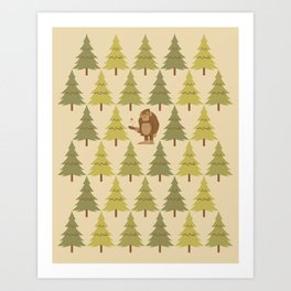 How Bigfoot Staves off Boredom Art Print