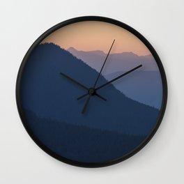 Silhouettes at Sunset, No. 2 Wall Clock