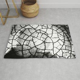 Crackled texture Rug