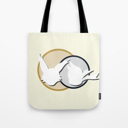 Poko & Yuki - White Silhouette  Tote Bag